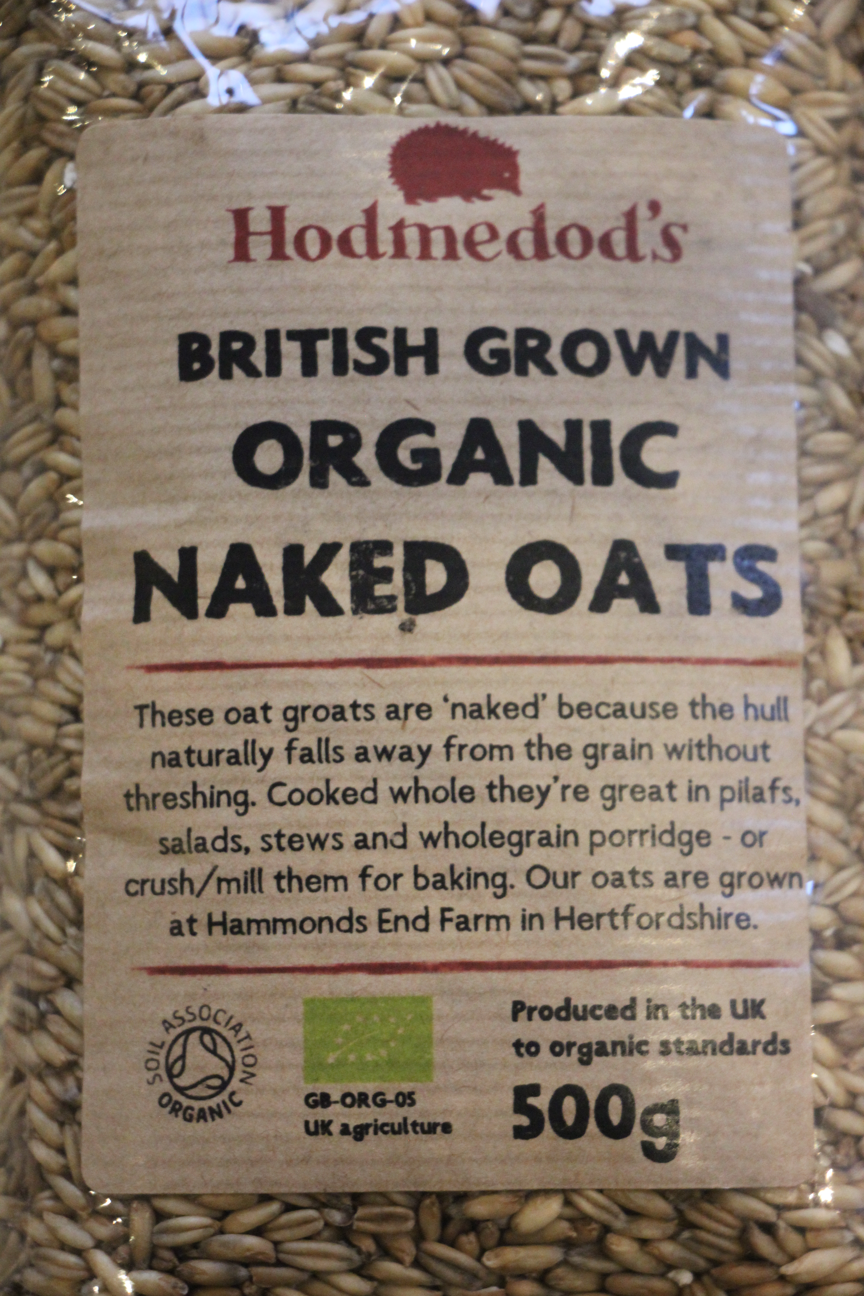 Organic Naked Oats 500g